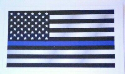 Police Officer American Flag Thin Blue Line DECAL STICKER Blue Lives Matter