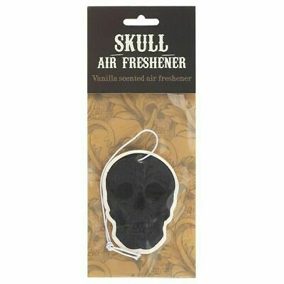 Black Skull Shaped Vanilla Scented Air Freshener Car, Home, Office