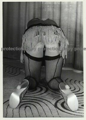 Rear View Of Woman's Butt In Fancy Lingerie *2 / Fishnets (Vintage Photo DDR 70s