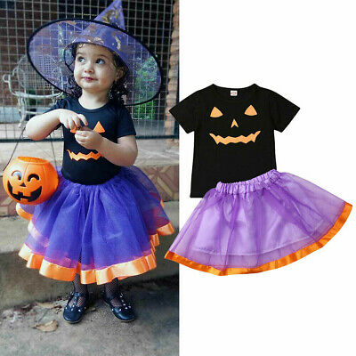 Baby Toddler Tutu Skirt Costume Childs Halloween Fancy Dress Kids Party Outfits