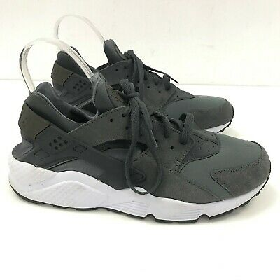 NIKE AIR HUARACHE Grey Fabric Casual Trainers Mens Size UK 12 TH241588