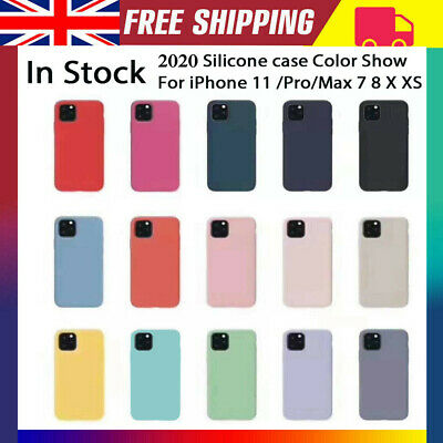 2019 Original silicone Cover case for Apple iPhone 11 Pro Max 7 8 Plus X XR XS