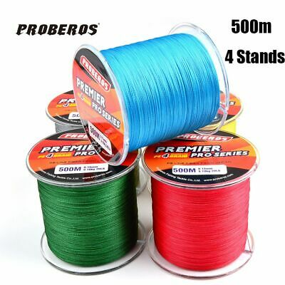 500M PE Braided Sea Fishing Line Tackle Wire 4 Strands Multifilament Thread