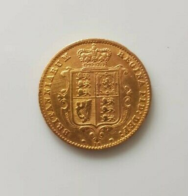 1865 Queen Victoria Gold Half Sovereign Die number 16 Victoria young head shield