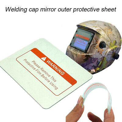 10Pcs Welding Helmet PC Clear Lens Cover Replacement Protective Plates 3 Size cA