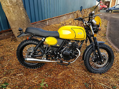 AJS TEMPEST SCRAMBLER 125cc SINGLE 4 STROKE NEW WITH 11 MILES,TO BE REGISTERED
