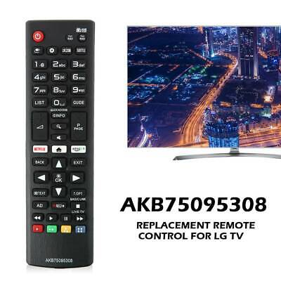 Replacement Remote Control Smart for LG TV AKB75095308 with Netflix Amazon Keys