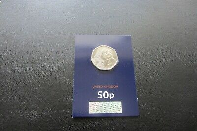 2019 PADDINGTON BEAR 1 x 50p COIN BUNC CARDED @ 'St.Pauls Cathedral           M1