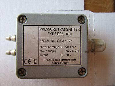 Kalinsky Type DS2-010 Pressure Transmitter 0-50 mBar Very Good Condition