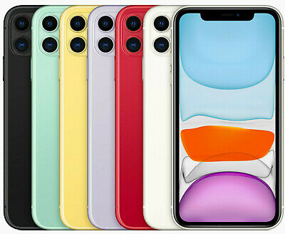 Apple Iphone 11 64 128 256 Black White Red Yellow Green Purple Nuovo Originale