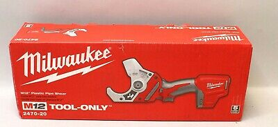 *New* Milwaukee Cordless M12 Plastic Pipe Shear - Tool Only