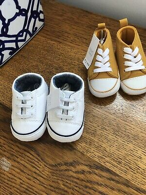 Two Pairs Of Next Baby Pram Trainers Size 0