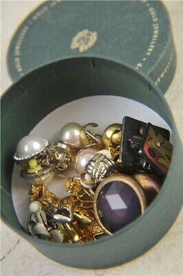 Job Lot Of 12x Pairs Of Vintage Clip On Women's Earrings Mix Colours, Styles Etc