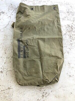 WWII WW2 US Duffel Bag,Canvas,Military,Army,Original,Dated 1944,Named,Vintage