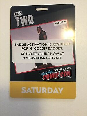 NYCC New York Comic Con 2019 Saturday Pass Badge Ticket 10/5/2019 Fan Verified