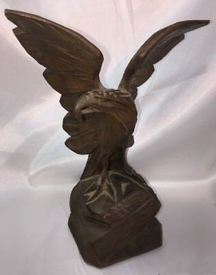 "Eagle~carved Wooden By Josef Albl Oberammergau -8"" Made in Germany"