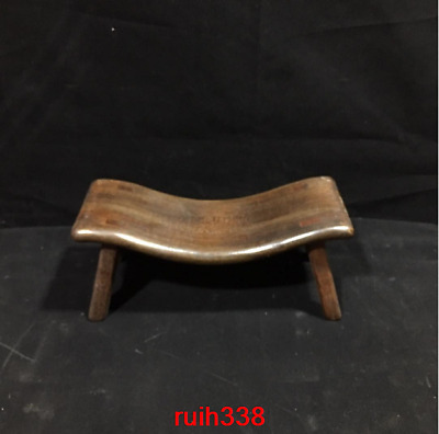 Collection Asia China old antique Rosewood Stool pillow