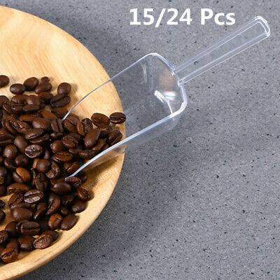 Mini Flour Scoops Plastic Clear Food Shovel for Ice Cream Coffee Protein Powders