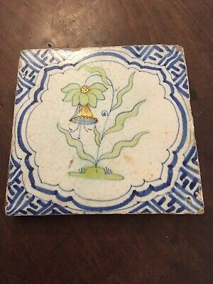 "Handpainted 5"" Square Tile Flower"