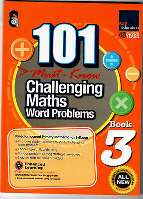 SAP Education 101 Must Know Challenging Maths Word Problems 3 - AU Year 3 Year 4