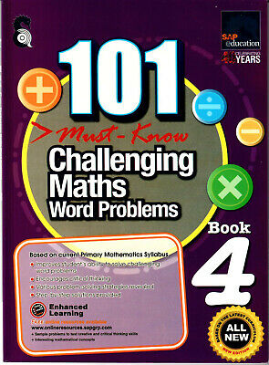 SAP Education 101 Must Know Challenging Maths Word Problems 4 - AU Year 4 Year 5