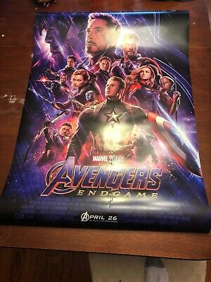 Marvel Avengers endgame 27 x 40 final payoff theatrical poster double sided FS