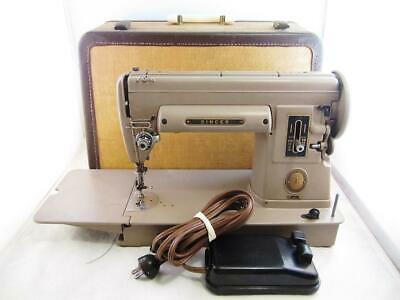 Singer Sewing Machine 301 Tan w/ Case In Good Condition