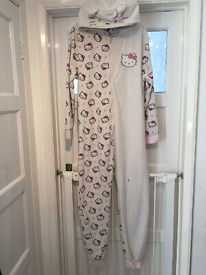 Girls Hooded  Fleece Hello kitty Onesy One Piece Sleepwear Next, Age 14Years