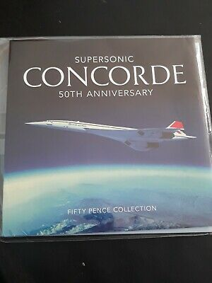 The 50th Anniversary CONCORDE 2019 50p 3 Coin Set BUNC Sealed. Guernsey