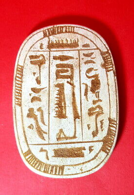 RARE ANCIENT EGYPTIAN FUNERARY CONE FOR THUTMOSE lll ANTIQUE hieroglyphic STONE