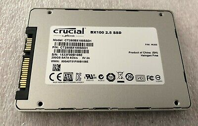 """Disque Ssd Crucial Bx100 2,5"""" 250Gb Ct250Bx100Ssd1 Occasion"""