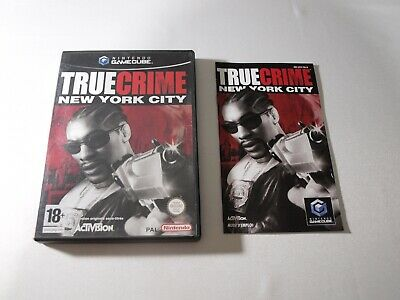 Boite + Notice True Crime New York City Nintendo Game Cube PAS DE JEU