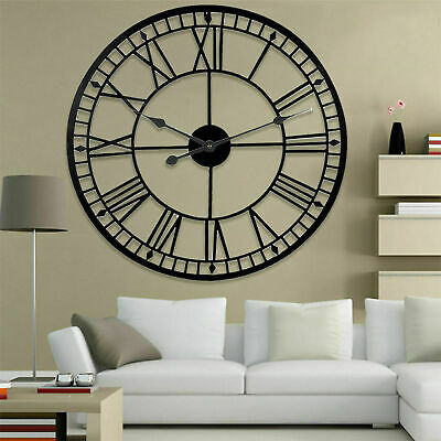 Large Roman Vintage Traditional Style Wall Metal Clock Skeleton For Home/Garden