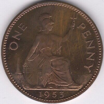 1953 Elizabeth II Proof One Penny | British Coins | Pennies2Pounds