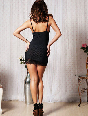 970-06-04244 590886 Sexy Babydoll a Strisce Bianche in Pizzo Floreale Sexy Shop