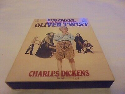 Double Cassette tapes Charles Dickens Oliver Twist audiobook read by Ron Moody