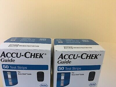 100 Accu-Chek Guide  Diabetic Test Strips  Exp. As Pictured + Superfast Shipping