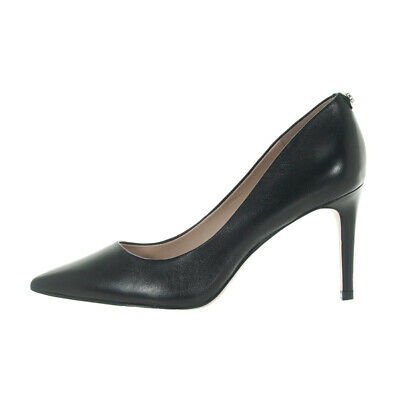Guess Scarpe Donna Decollete A Punta Bennie In Pelle Black Flbe74Lea08
