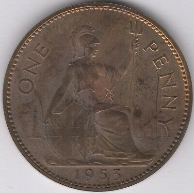 1953 Elizabeth II Proof One Penny Coin | British Coins | Pennies2Pounds