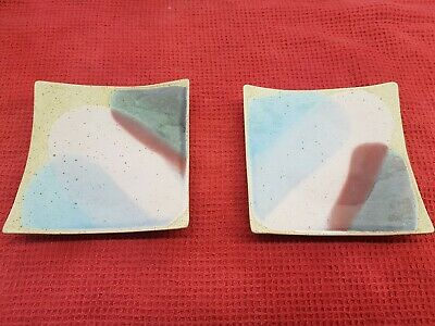 Two Habitat Candle Stands Plates Unused