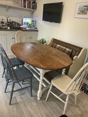 Victorian Oval Oak Dining Table