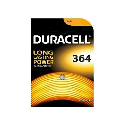 DURACELL 364 Long lasting Power 15v silver-oxide - pack of 10 batteries