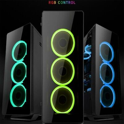 5 pack of 12cm Case Fan Game Eclipse Max RGB 16.8 Million Colours LED Ring PC