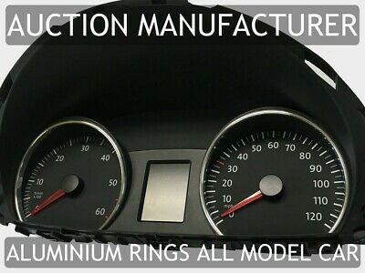 VW Crafter / LT3 2006-2013 Chrome Gauge Trim Dial Rings Polished Alloy New x2
