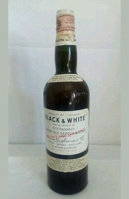 Black & White Scotch Whisky Buchanan's anni 50 Blended Glasgow & London