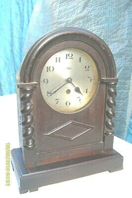 Clock Mantel 8 Day German  Time Piece Working  See Video