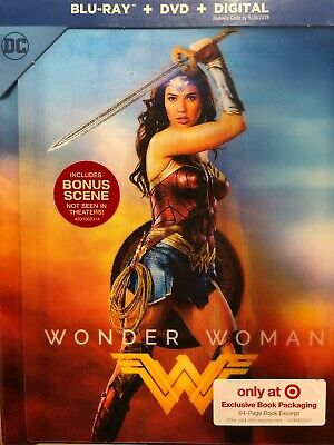 Wonder Woman (Blu-ray+DVD+Digital) Target Exclusive Lenticular DigiBook Rare NEW