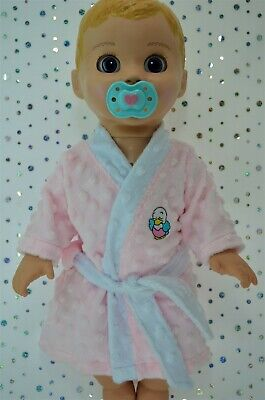 """Play n Wear Dolls Clothes For 17"""" Luvabella Doll PINK MINKY DRESSING GOWN"""