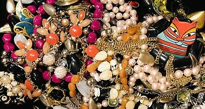 Huge Vintage to Now Estate Jewelry Lot - Estate Find - All Wearable Mixed 2 Lbs+