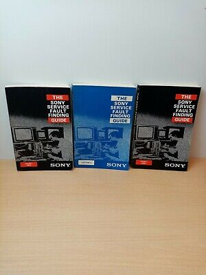 3 x Sony Service fault finding guides volume 1 Video, Edition 2 And Volume 3